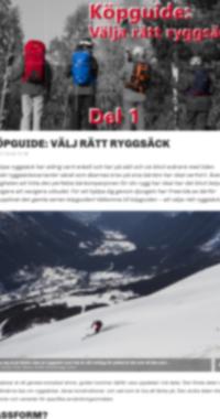 Köpguide: Välj Rätt Ryggsäck - Del 1